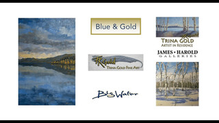 Trina Gold Fine Art - Blue and Gold