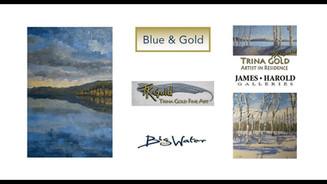 Trina Gold Fine Art - Blue and Gold