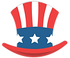 hat, uncle sam, top hat, stars, stripes, stars and stripes, stars and bars, America,