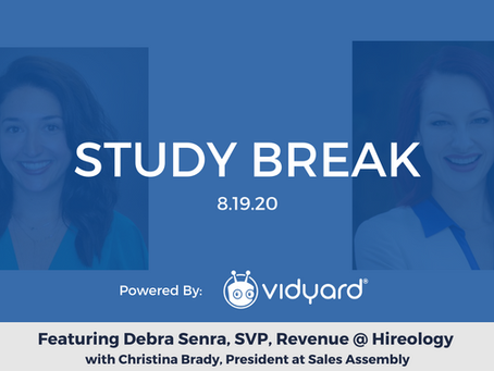 Sales Assembly Study Break Featuring Debra Senra, SVP, Revenue at Hireology (Video)
