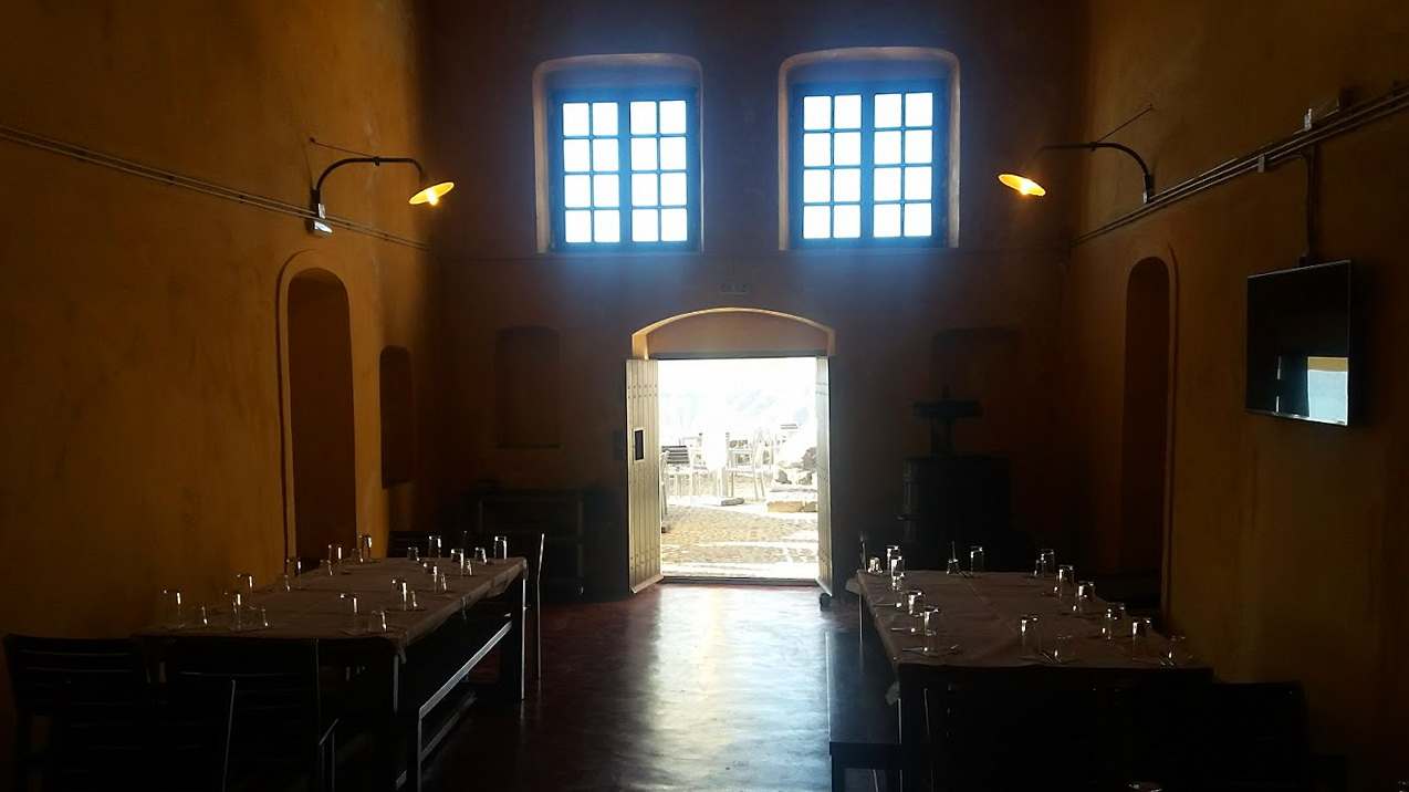 Traditional winery in Santorini