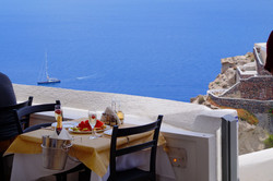 Apsithia Restaurant in Oia Santorini