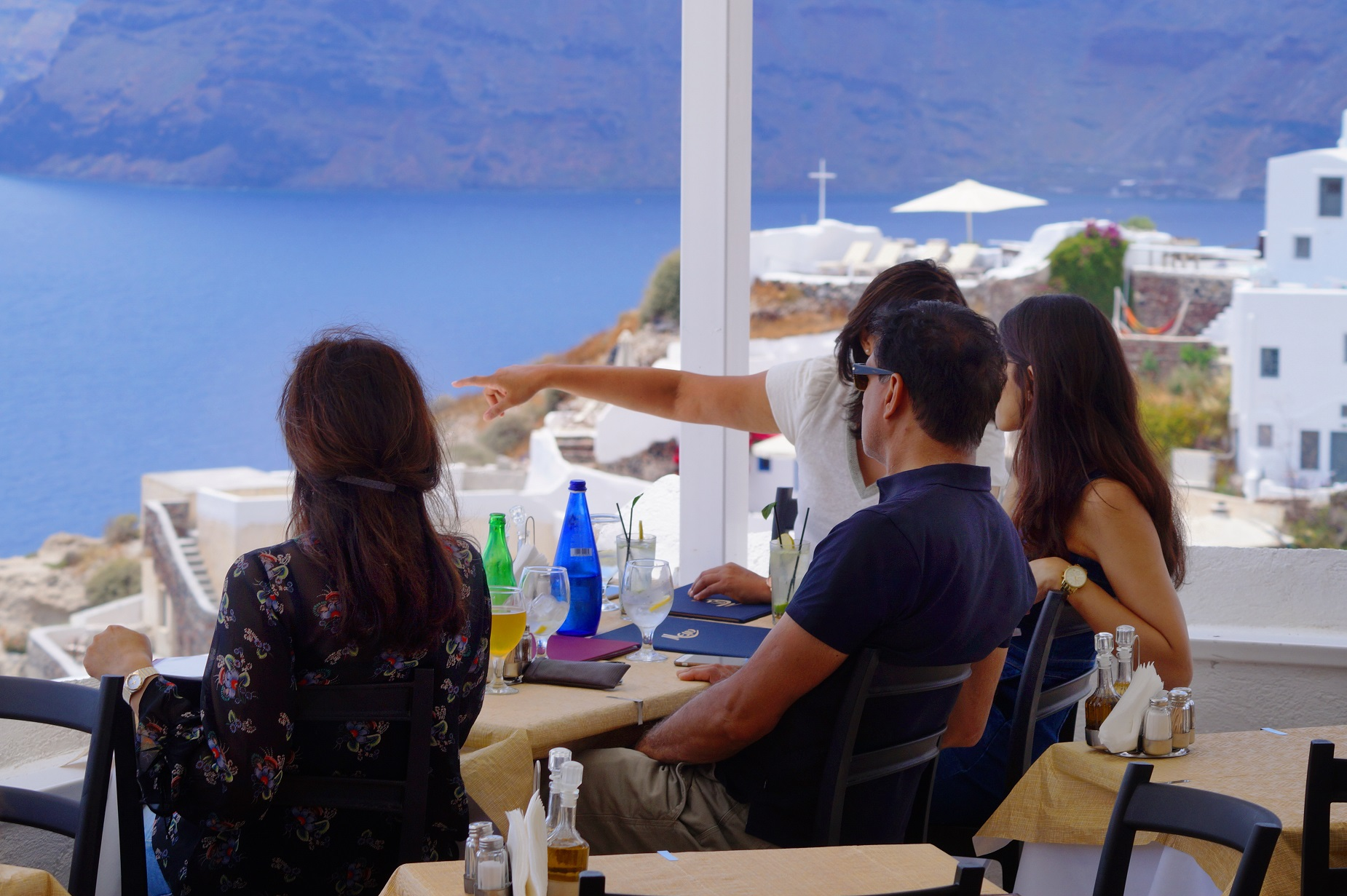 Restaurant Apsithia Oia Santorini, Greece