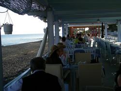 Restaurants next to the beach