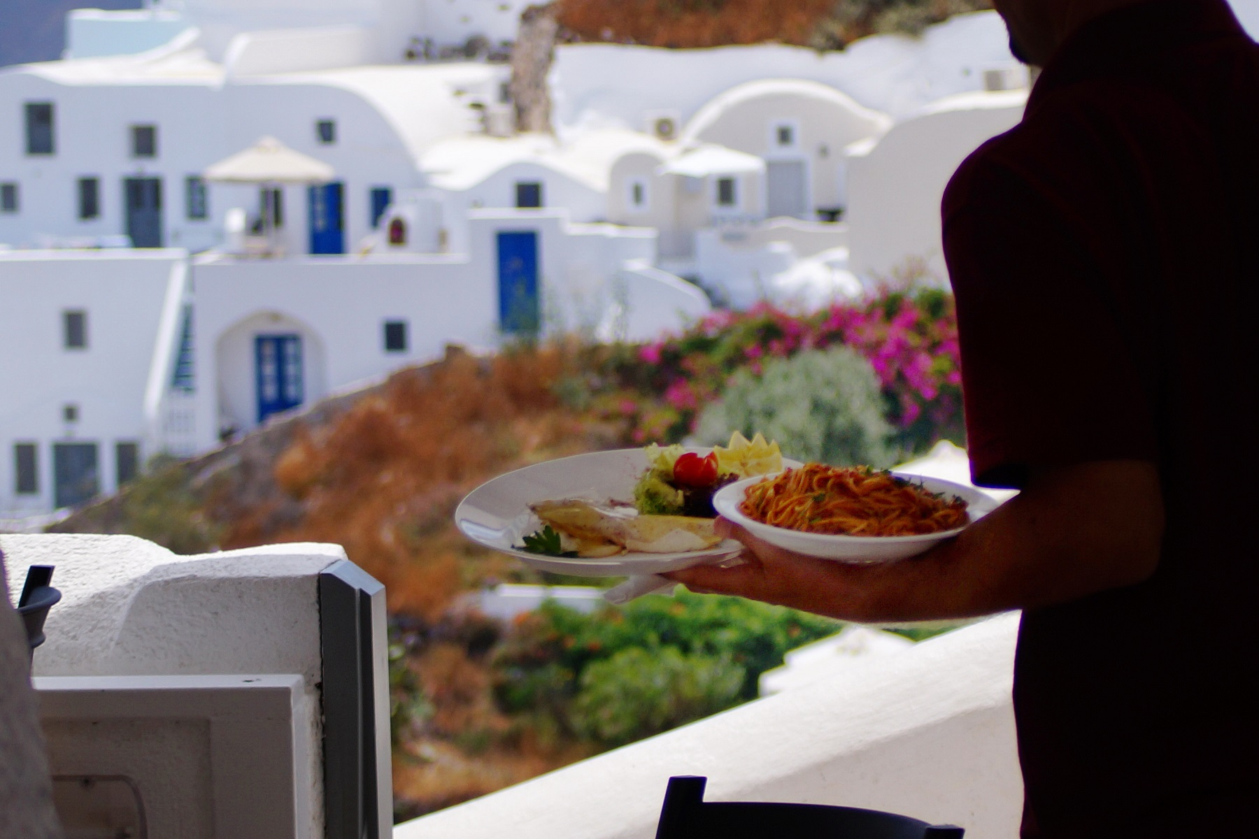 Restaurants in oia Santorini Greece