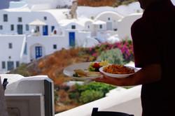 Restaurants in oia Santorini Greece