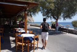 Perissa beach restaurants.JPG