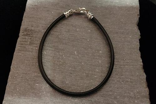 Leather Memory Link Bracelet