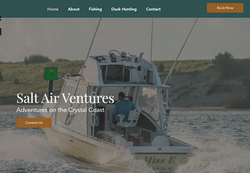 Website Design 2020 Salt Aire Ventures Morehead City Charter Boat