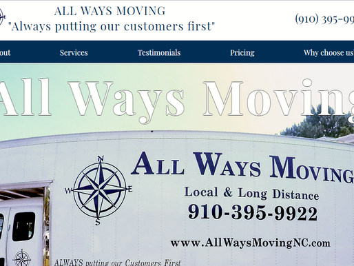 Website Design | All Ways Moving | Jacksonville NC