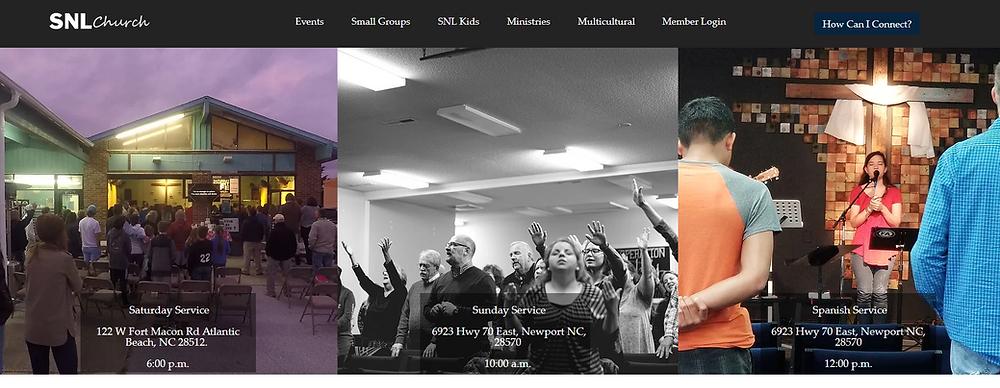 Website Design SNL Church | Newport | Atlantic Beach