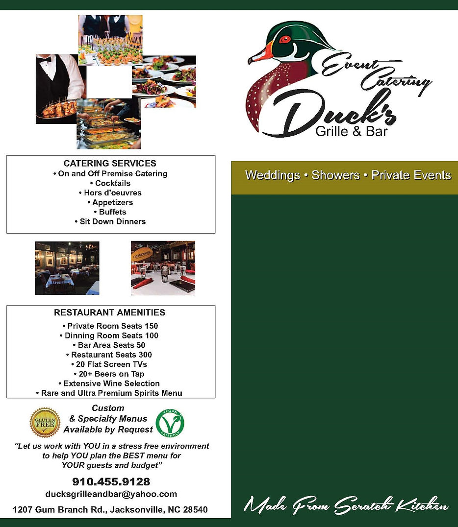 Ducks Grille And Bar Jacksonville Nc Catering