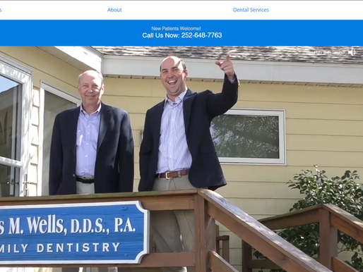 Website Design | Wells Family Dentistry | Morehead City