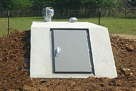 Concrete tornado shelter easy access storm shelters