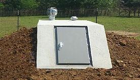 Concrete tornado shelter easy access storm shelters