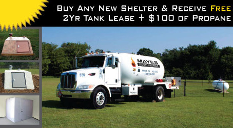New Partner Offer - Buy a Shelter and Receive FREE Propane and Tank Lease