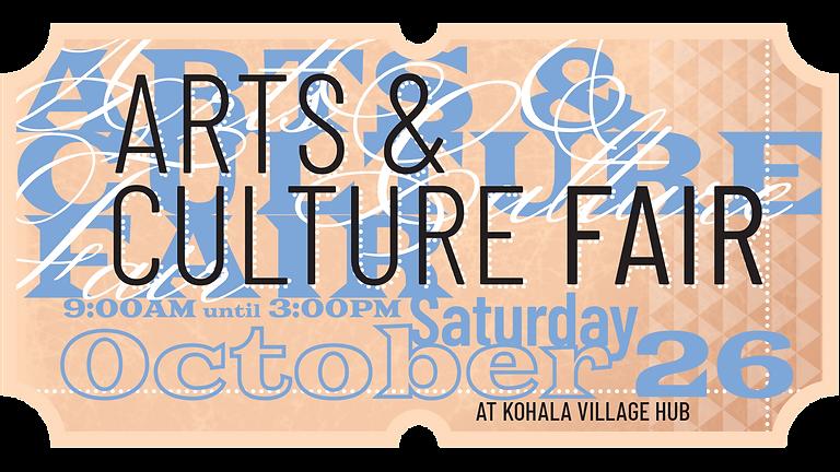 Saturday Arts & Culture Fair