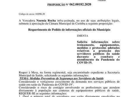 Noemia Rocha pede informações sobre medidas de proteção de servidores públicos da saúde