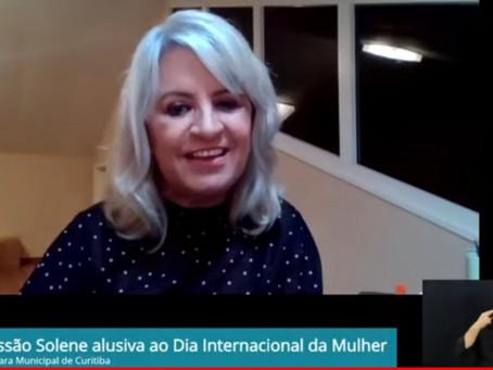 Sessão solene virtual celebra Dia da Mulher