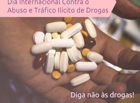 Dia Internacional contra o Abuso e Tráfico Ilícito de Drogas traz reflexão sobre problema social