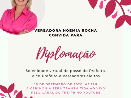 Diplomação dos candidatos eleitos acontecerá no dia 18