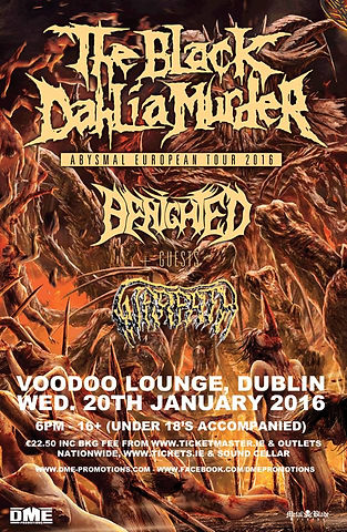 The Black Dahlia Murder Tour Poster