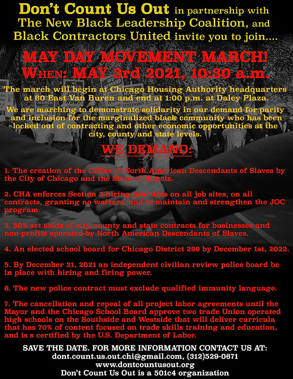 Obadele - May Day March 3 (Black backgro