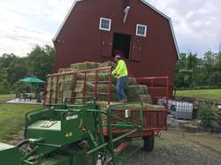Jeff Unloading the Hay Wagon