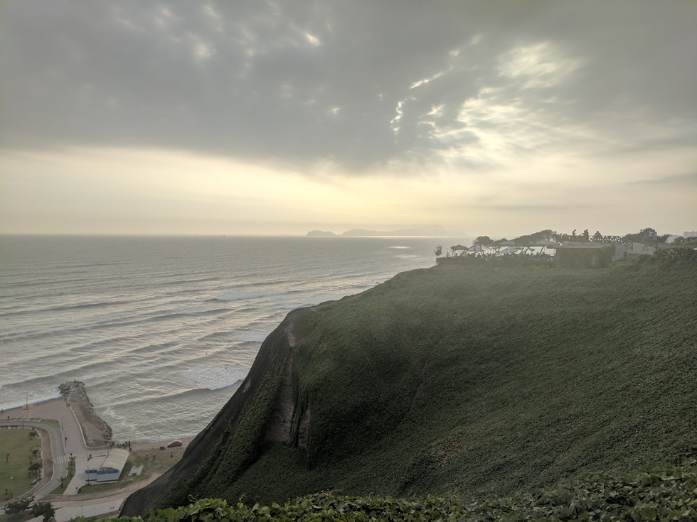 Arriving in Lima, Perú