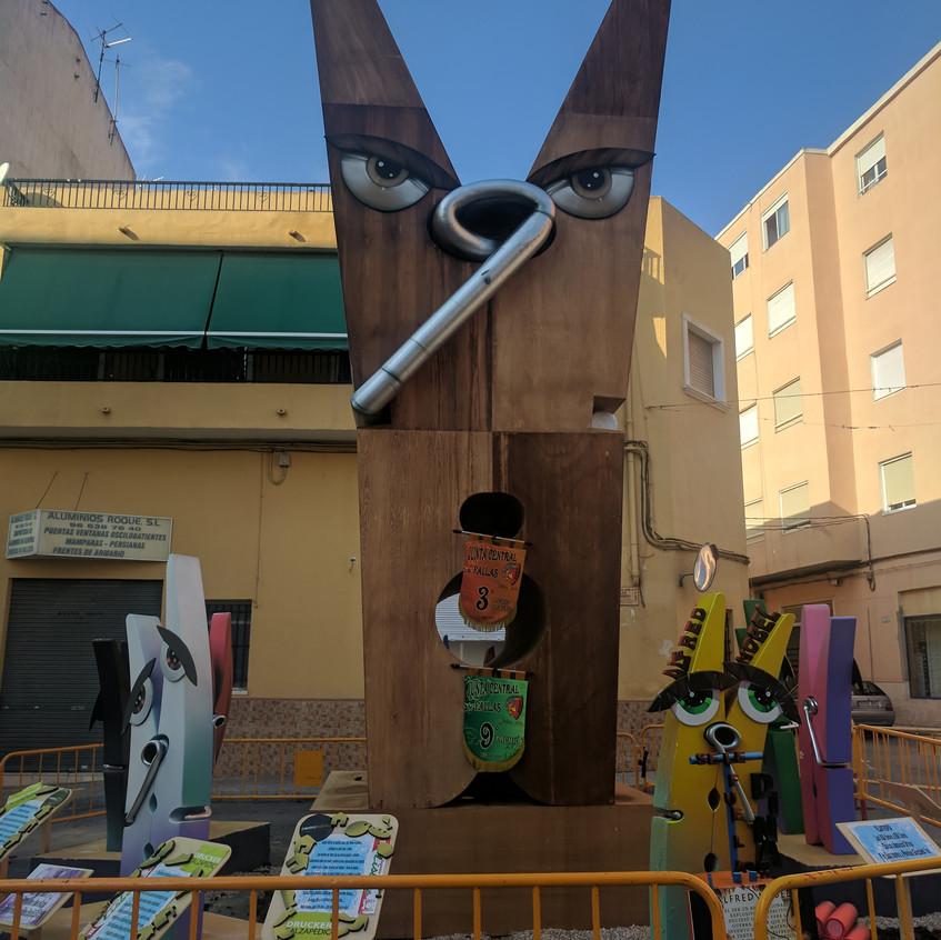 Fallas in Elda, Alicante, Spain