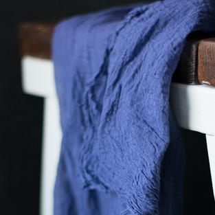 Cotton Gauze Tablerunner - Navy Blue