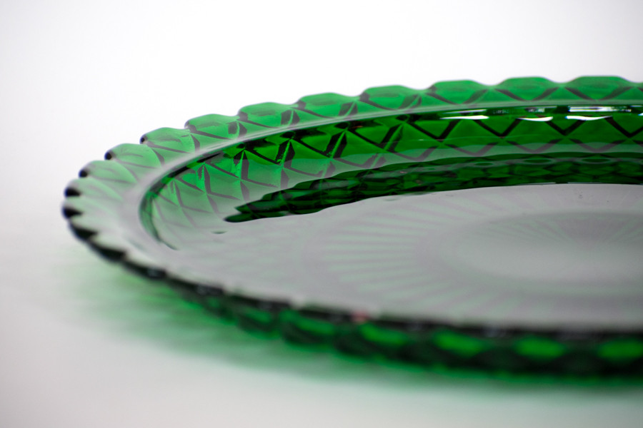 Emerald Green Depression Glass Platter