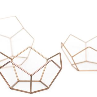 Lotus Bowl Geometric Crystals