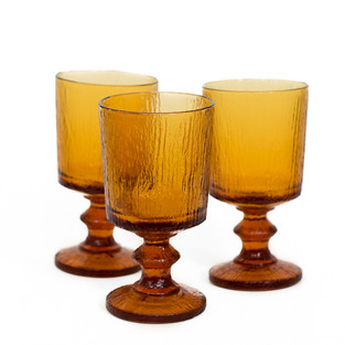 Tall Amber Goblets
