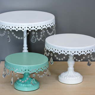 Crystal Drop Cake Pedestals