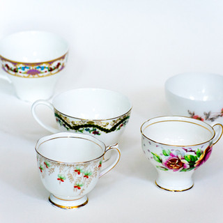 Mismatched Tea Cups
