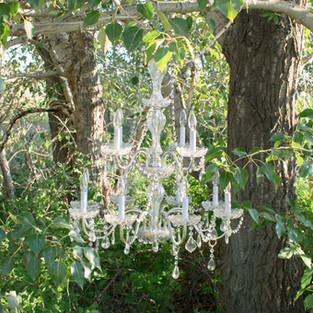 Large Crystal Drop Chandelier