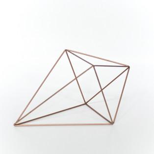 Geometric Rose Gold Elongated Crystal