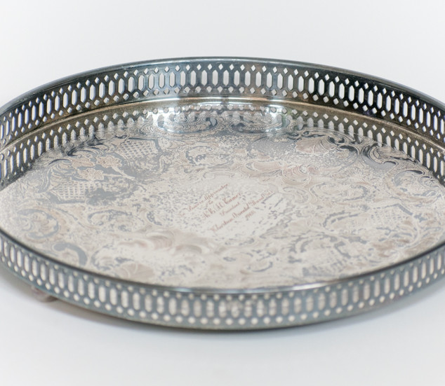 Round Silver Serving Tray 5