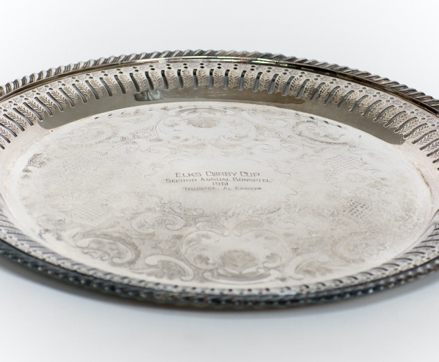Round Silver Serving Tray 4