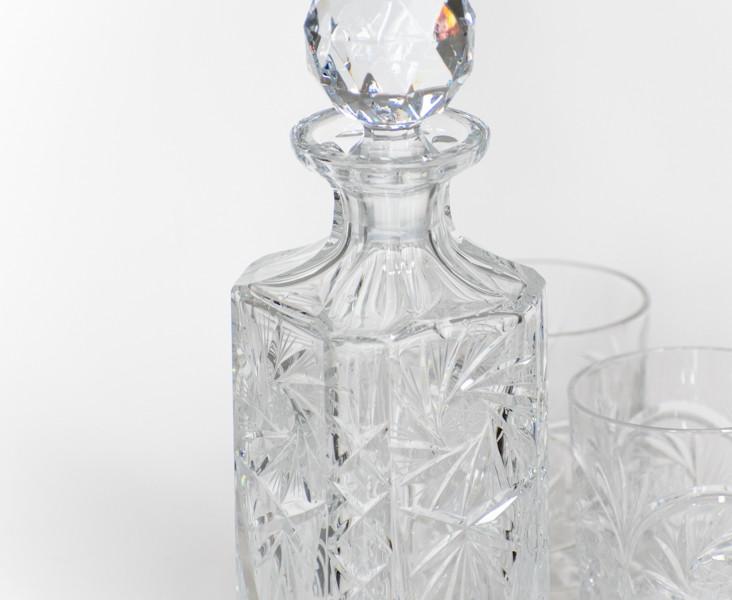 Pinwheel Crystal Decanter - vintage rentals