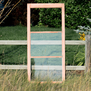 Pink Farmhouse Window