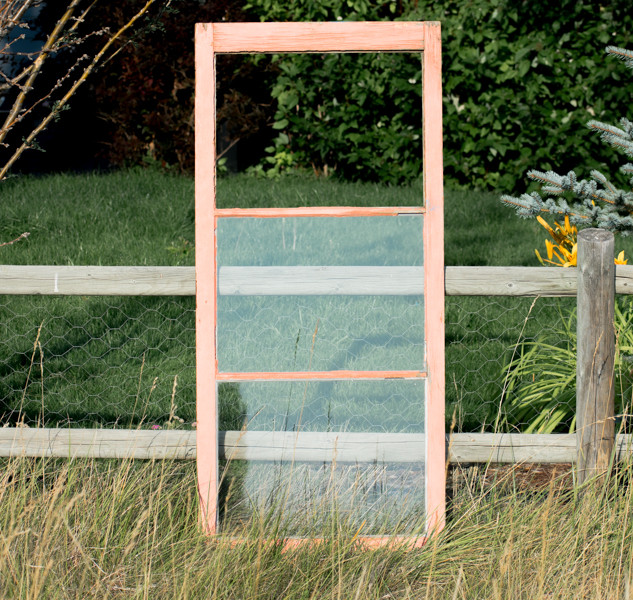 Pink Farmhouse Window