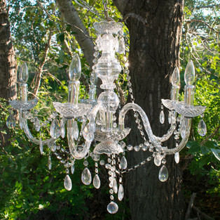 Small Crystal Drop Chandelier