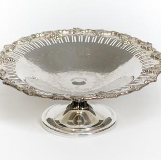 Silver Pedestal Tray