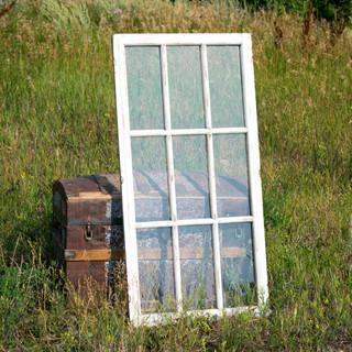 Chippy White 9-Pane Farmhouse Window