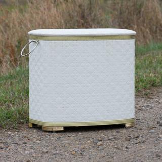 White Tufted-Look Bin