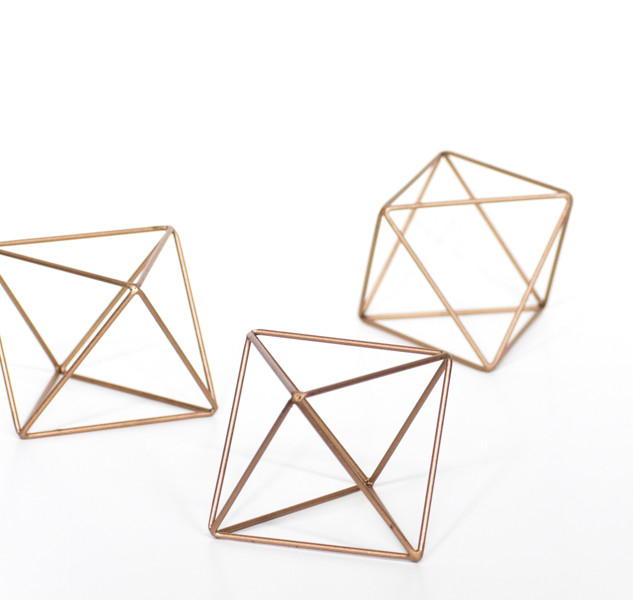 Geometric Rose Gold Crystals