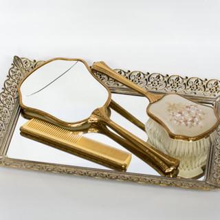 Vintage Brush & Mirror Set