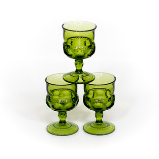 Green Indiana Co. Wine Glasses